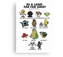 In A Land Far Far Away Canvas Print