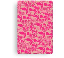 Neon Jungle in Pink Canvas Print