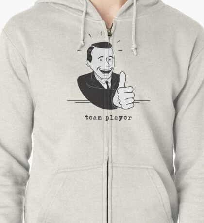 team player thumbs up (light colors) Zipped Hoodie