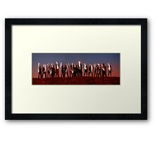 Light Painting Framed Print