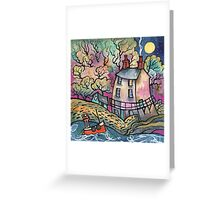 Evening Calm, The Dylan Thomas Boathouse, Wales Greeting Card
