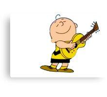 Charlie Brown Guitar Canvas Print