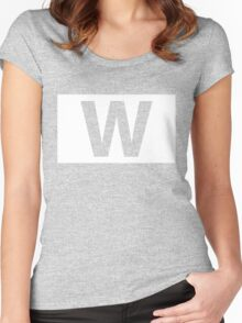 Chicago Cubs Majestic W Flag Women's Fitted Scoop T-Shirt