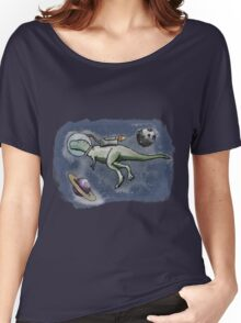 A Space Dinosaur - Colour Women's Relaxed Fit T-Shirt