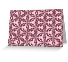 Fractal Lattice in Pink Greeting Card