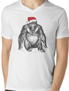 Harambe for Christmas Mens V-Neck T-Shirt
