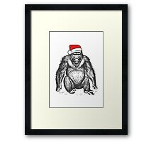 Harambe for Christmas Framed Print
