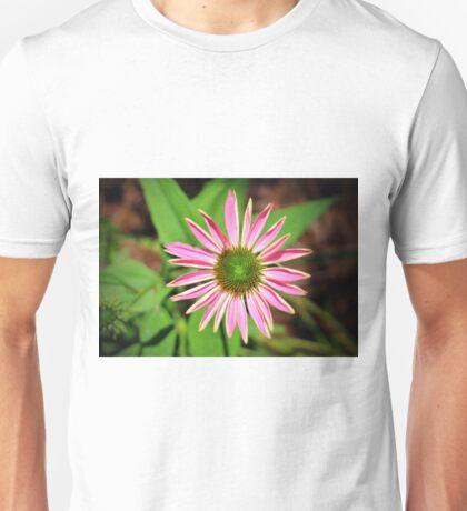 Pink And Green Zinnia Unisex T-Shirt