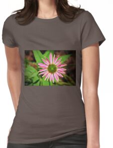 Pink And Green Zinnia Womens Fitted T-Shirt