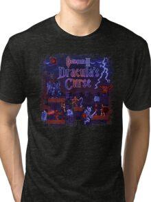 Curse Vania Dracula's Castle 3 Tri-blend T-Shirt