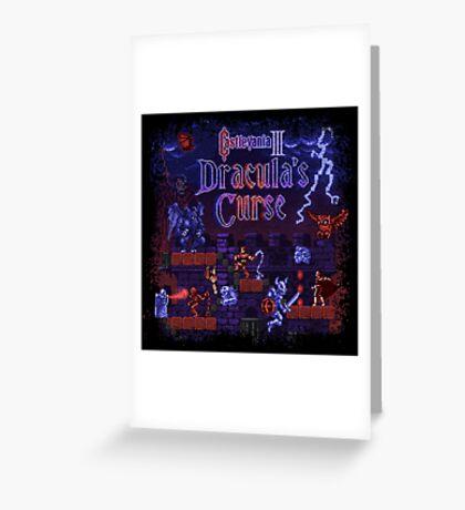 Curse Vania Dracula's Castle 3 Greeting Card