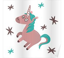 Charming Unicorn flying solo Poster