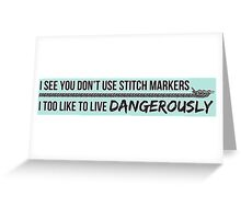 You don't use stitch markers? Greeting Card