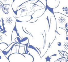 Merry Christmas set with Santa Claus Sticker