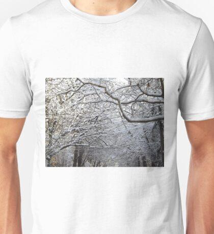 Jersey City, New Jersey, Wet Snow View T-Shirt