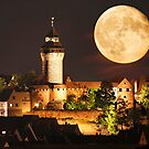 Moon over NBG by Norbert Probst
