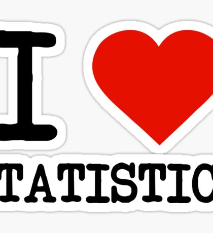 I Love Statistics Sticker