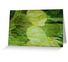 Greenish abstract theme from Eco Lass painting Greeting Card