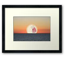 Screaming Sunset Framed Print