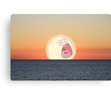 Screaming Sunset Canvas Print