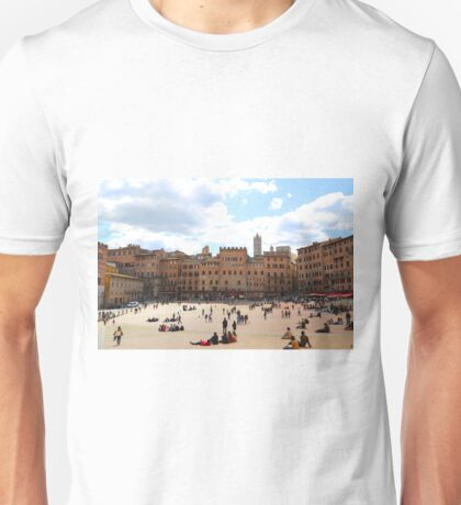 All About Italy. Piece 13 - Piazza del Campo in Siena Unisex T-Shirt
