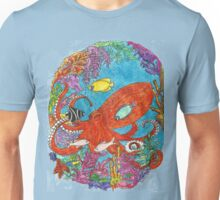 Coral and Octopus Unisex T-Shirt