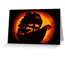 Ghostly Galleon Greeting Card