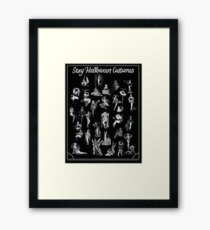 Sexy Halloween Costumes Framed Print