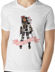 Fight Like a Girl: Big Sister Mens V-Neck T-Shirt