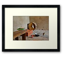 tool in the african hut Framed Print