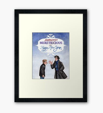 And a Happy New Year - BBC Sherlock Framed Print