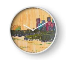 Cityscape by Day Clock