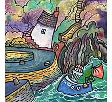 Lobster boat, Porthgain Photographic Print