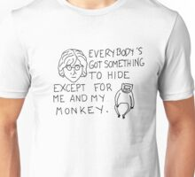 John Lennon and His Monkey Unisex T-Shirt