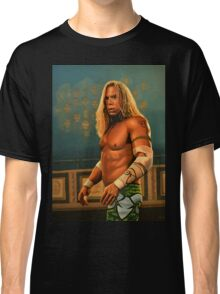 Mickey Rourke as The Wrestler Painting Classic T-Shirt