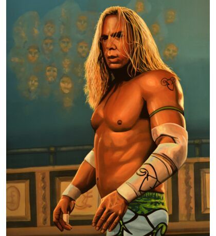 Mickey Rourke as The Wrestler Painting Sticker