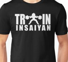 TRAIN INSAIYAN - Vegeta Squat Silhouette (White Print) Unisex T-Shirt