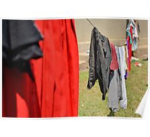 hanger with clothes Poster