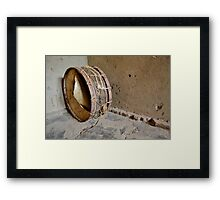 drum  in the african hut Framed Print