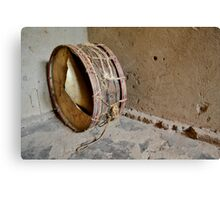 drum  in the african hut Canvas Print
