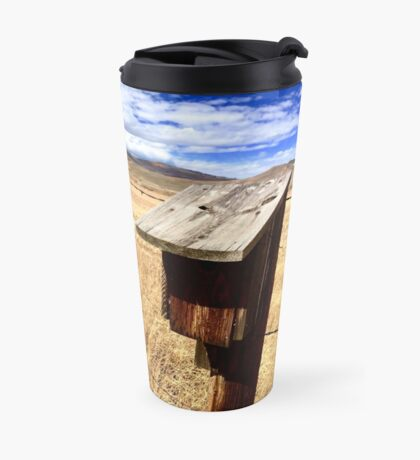 Birdhouse On A Wire Travel Mug