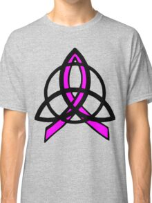 Pink Ribbon Celtic Trinity Knot Classic T-Shirt