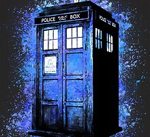 Dr Who Tardis Splatter by diggle94