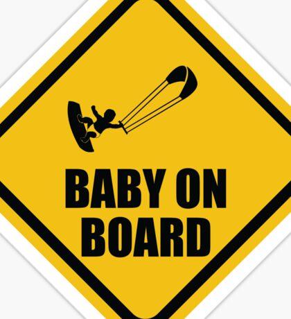 Kiteboarding Baby on Board Sticker