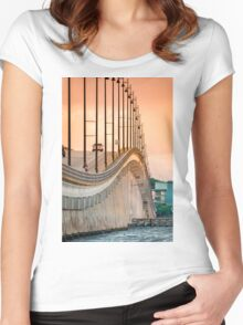 Gilchrist Bridge Sunset Women's Fitted Scoop T-Shirt