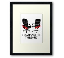 Games with Thrones Framed Print