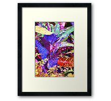 Fantasy Colored Leaf Abstract Framed Print