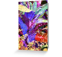 Fantasy Colored Leaf Abstract Greeting Card