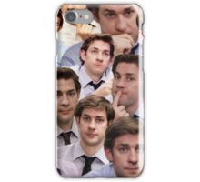 Jim Halpert Faces Collage iPhone Case/Skin
