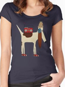 the bootleg beagle  Women's Fitted Scoop T-Shirt